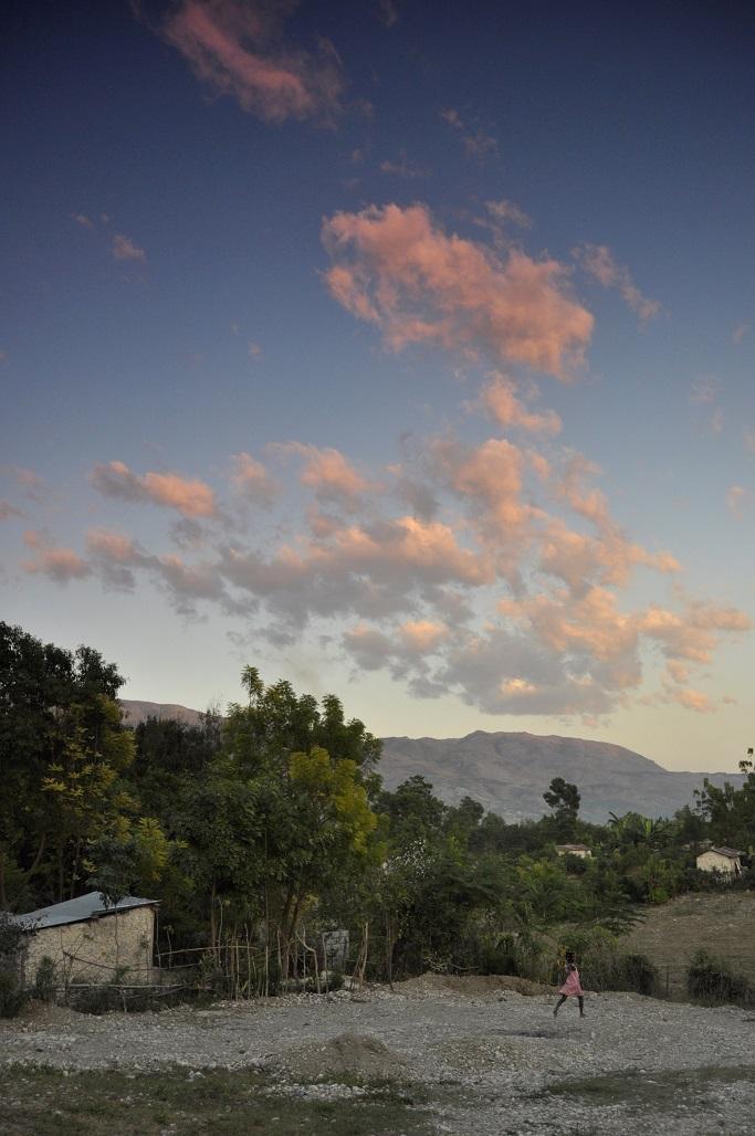 Haiti countryside with beautiful colorful scenery
