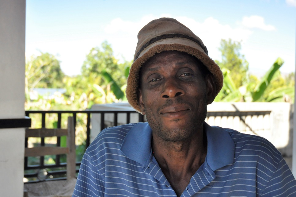 Haitian man sits for interview to explain life of farmer